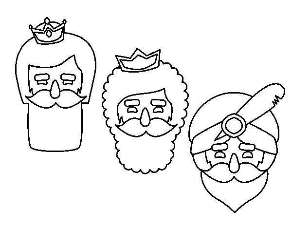 Disegno di 3 uomini saggi da Colorare