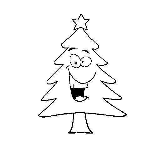 Disegno di albero di natale da colorare for Dibujo arbol navidad