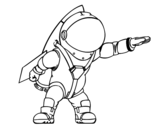Dibujo de Astronauta con razzo