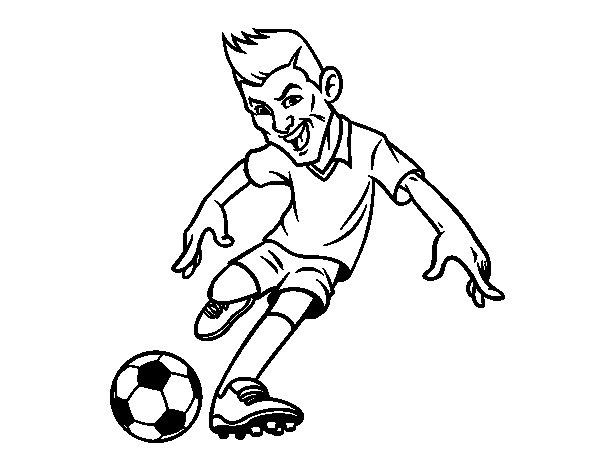 Disegno di Attaquant football da Colorare