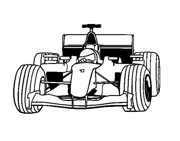 Disegno di Auto di F1  da Colorare