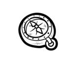 Disegno di Bussola pirata da colorare