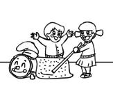 Disegno di Caga Tió da colorare