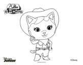 Disegno di Callie sceriffa del West da colorare