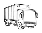 Disegno di Camion di merce da colorare