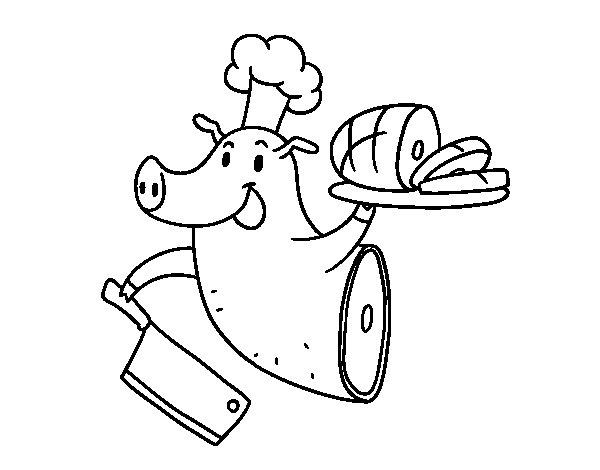 Disegno di Carne di maiale da Colorare