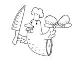 Disegno di Carne di pollo da colorare