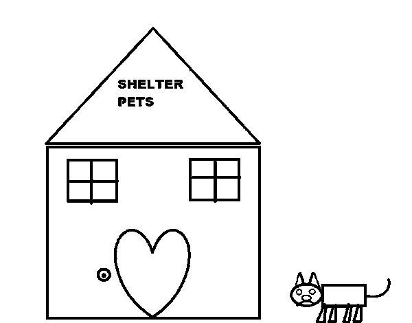 Disegno di casa di animali da colorare for Casa disegno