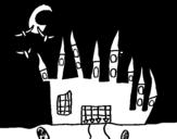 Disegno di Castello del Terrore da colorare
