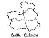Disegno di Castiglia-La Mancia da colorare