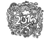 Disegno di Collage 2016 da colorare