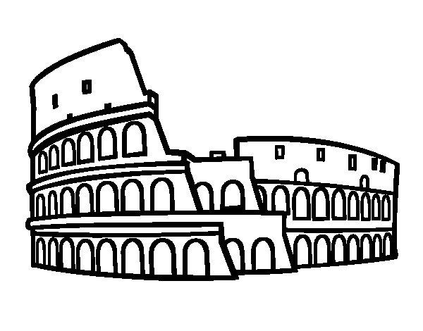 Disegno di colosseo romano da colorare for Disegni della roma da colorare