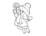 Disegno di Coniglio caldo da colorare