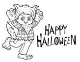Disegno di Costume lupo per Halloween da colorare