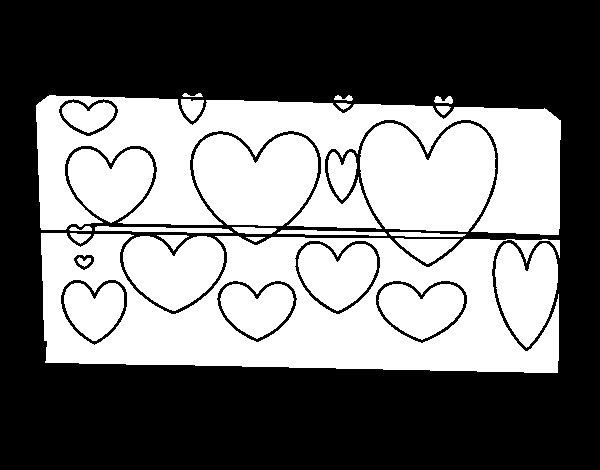 Disegno Di Cuori Regalo Da Colorare Acolore Com