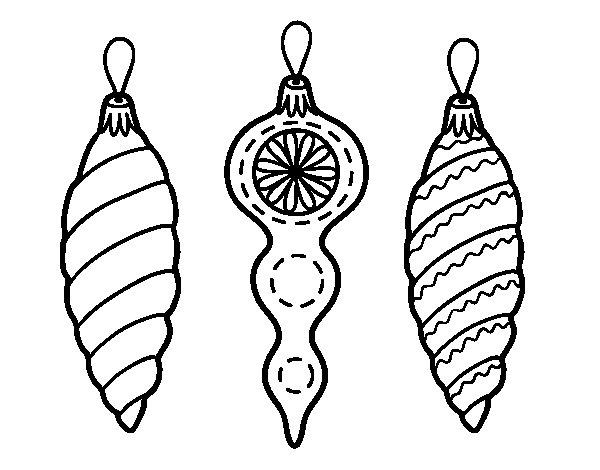 disegno di decorazioni natalizie albero di natale da
