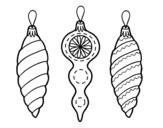 Disegno di Decorazioni Natalizie albero di Natale da colorare