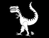 Disegno di Dinosauro con uovo da colorare