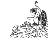 Disegno di Donna flamenco da colorare