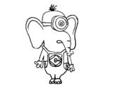 Disegno di Elefante Minion da colorare