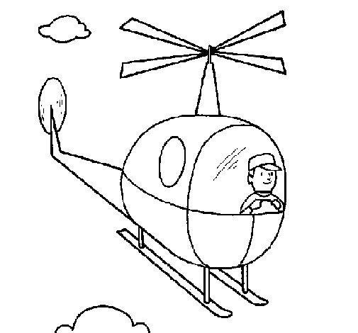 Elicottero Disegno : Disegno di elicottero da colorare acolore