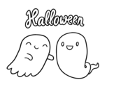 Disegno di Fantasmi di Halloween da colorare