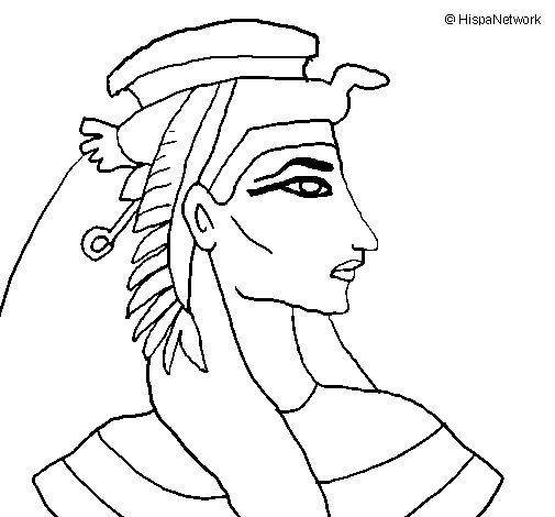 Disegno di Faraone da Colorare