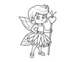 Disegno di Fata principessa dei cuori da colorare
