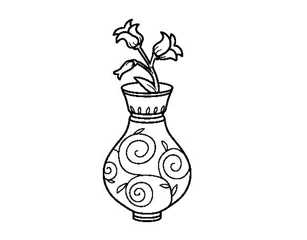 Disegno di Fiore di convolvoli in un vaso da Colorare