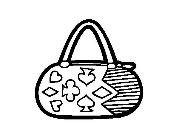 Disegno di Frizione con motivi gioco di carte da Colorare