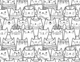 Disegno di Gatti di Natale da colorare