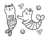 Dibujo de Gatti sirena