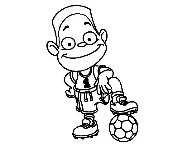 Disegno di Giocatore numero 1 da Colorare