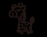 Disegno di Giraffa vanitosa da colorare