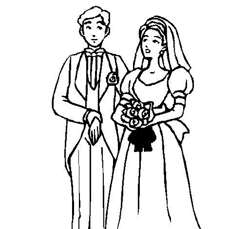 Disegno di Gli sposi III da Colorare