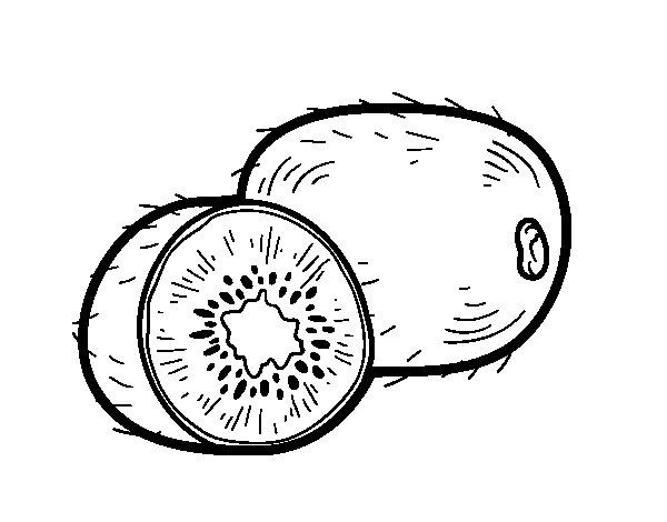 Disegno di Il kiwi da Colorare
