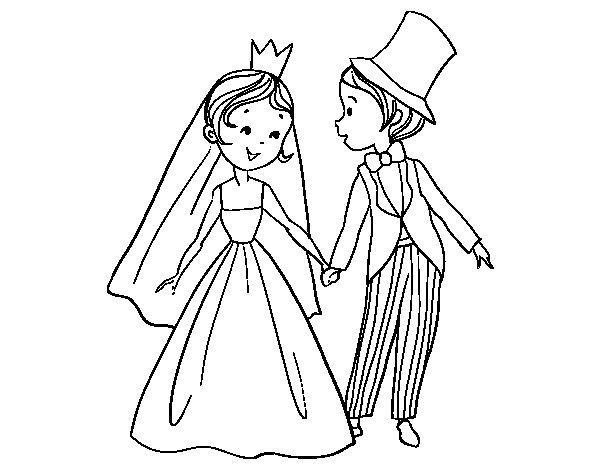 Sposi Da Colorare Disegno Di Il Matrimonio Reale Da Colorare