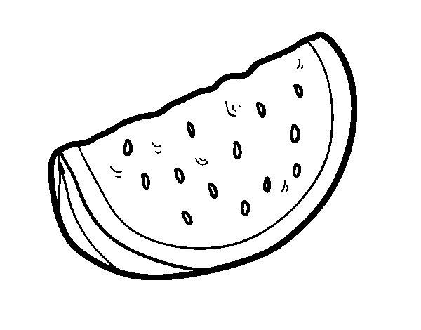 Disegno di Il pezzo di anguria da Colorare