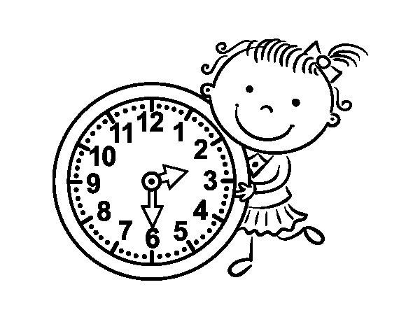 Disegno di Imparare le ore da Colorare
