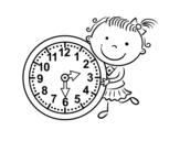 Dibujo de Imparare le ore