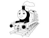 Disegno di James la locomotiva rossa da colorare