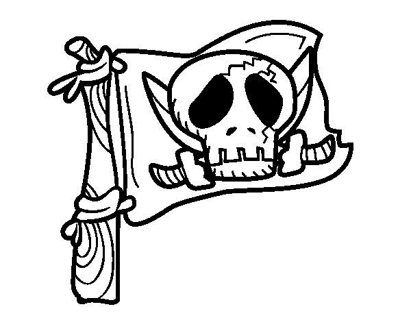 Disegno di Jolly Roger da Colorare