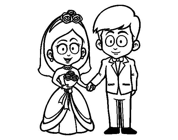 abbastanza Disegno di La sposa e lo sposo. da Colorare - Acolore.com EE62