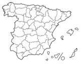 Disegno di Le province di Spagna da colorare