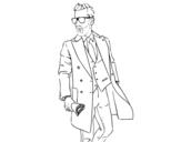 Disegno di L'uomo in tuta da colorare