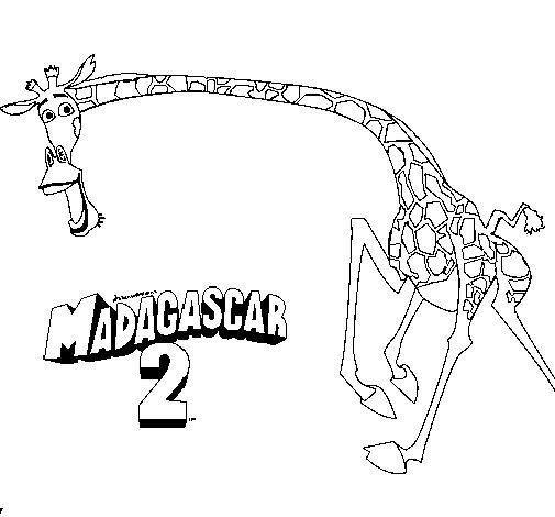 Disegno di Madagascar 2 Melman 2 da Colorare