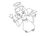 Disegno di Magico angelo di Natale da colorare