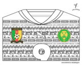 Disegno di Maglia dei mondiali di calcio 2014 del Camerun da colorare