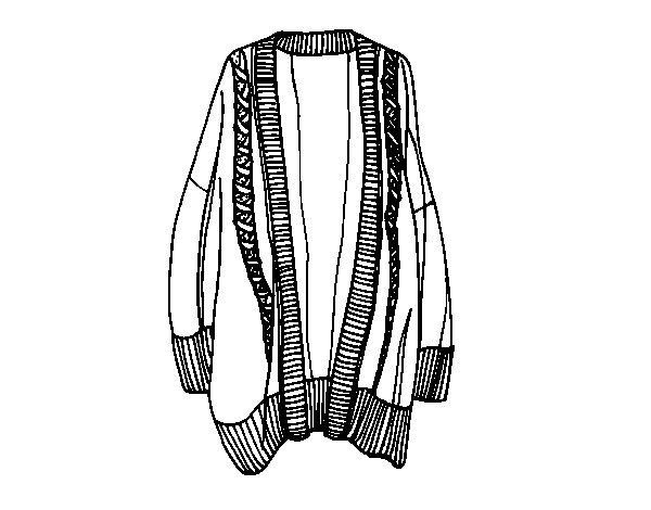 Disegno di Maglione aperto lungo da Colorare