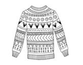 Disegno di Maglione stampato di lana da colorare